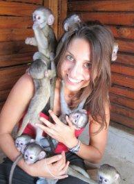 Kristen and monkeys
